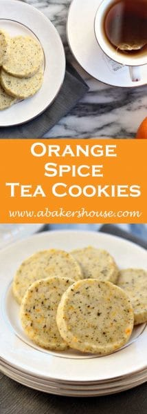 Orange spiced tea cookies