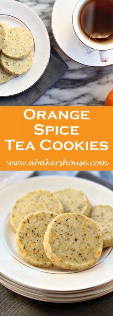 Orange spiced tea cookies
