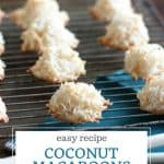 Recipe for easy coconut macaroons