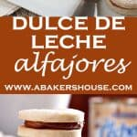two photos of dulce de leche cookies