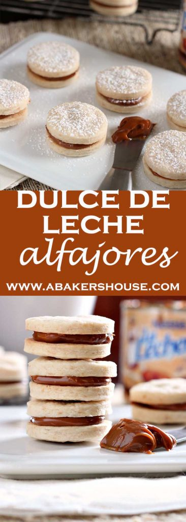two photos of dulce de leche cookies