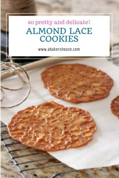 Easy cookie recipe for almond lace cookies