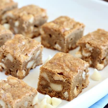 White Chocolate and Macadamia Nut Blondies