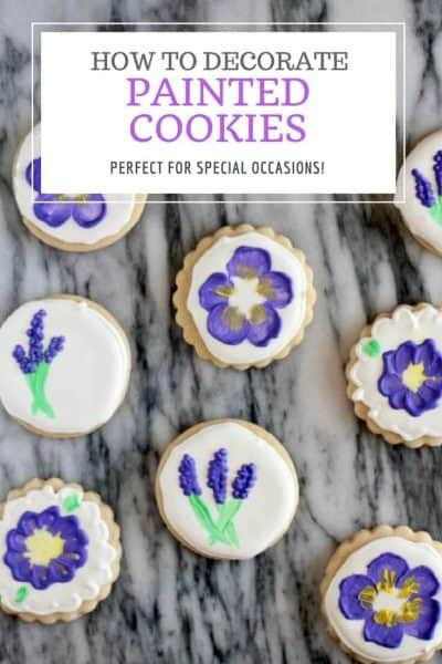 How to make painted cookies with flowers