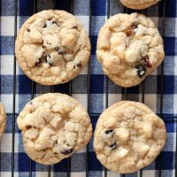 Dried Berries and White Chocolate Chip Cookies