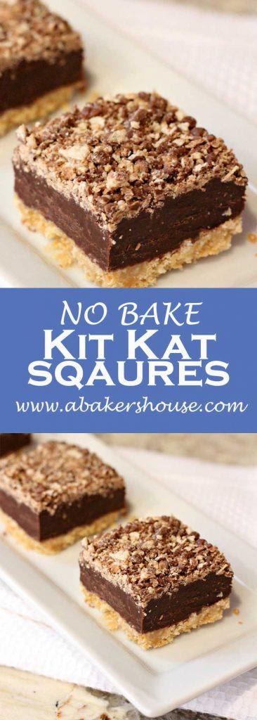 no bake kit kat squares