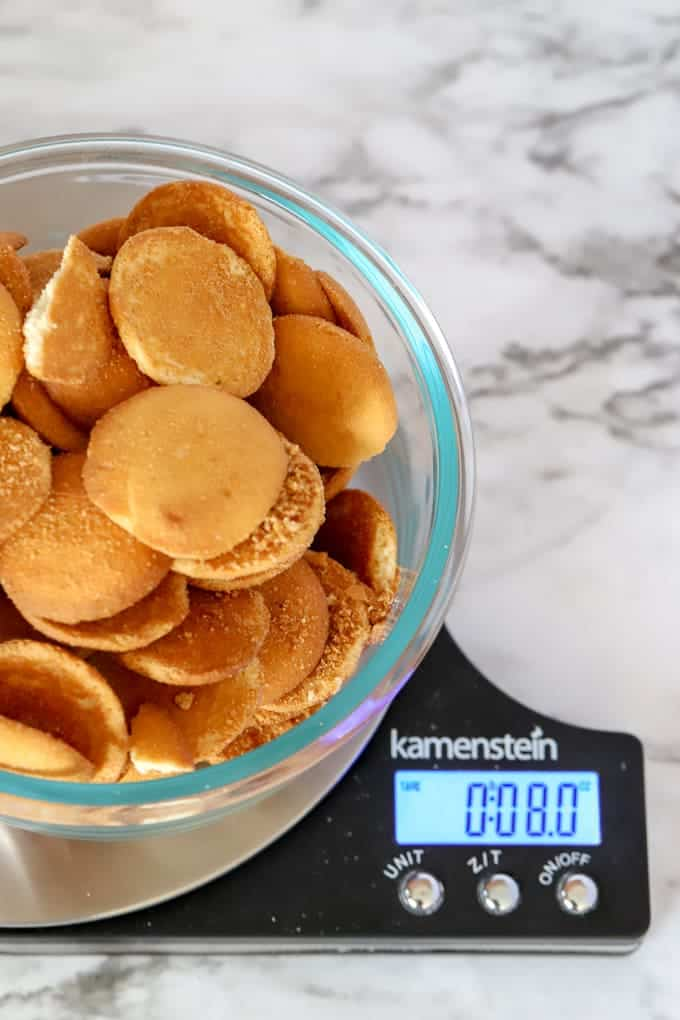 Cookies weighed out 8 ounces on kitchen scale