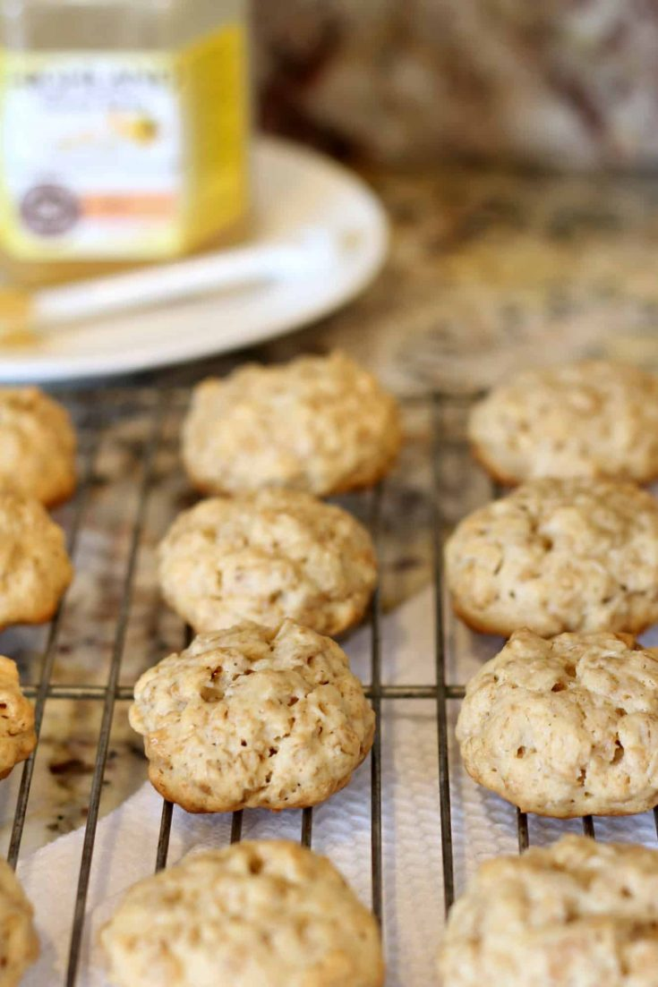 Healthy ingredients come together in this cookie recipe from Whole Foods #abakershouse #wholefoods #healthycookie #oatmealcookie