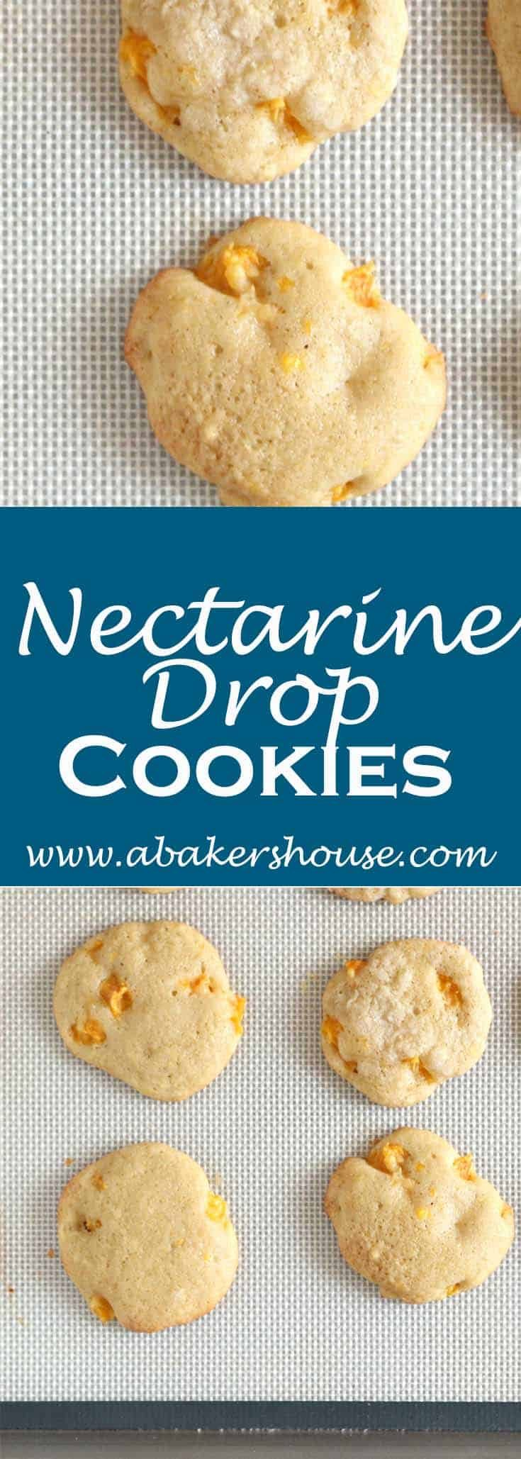 Baking with stone fruit is often reserved for pies but cookies are a great option too. Make this recipe from Martha Stewart for nectarine drop cookies. The end result is a soft, pillow-like cookie that I found best enjoyed on the first day.#abakershouse #nectarinecookies #fruitcookies #jamcookies #marthastewartrecipe
