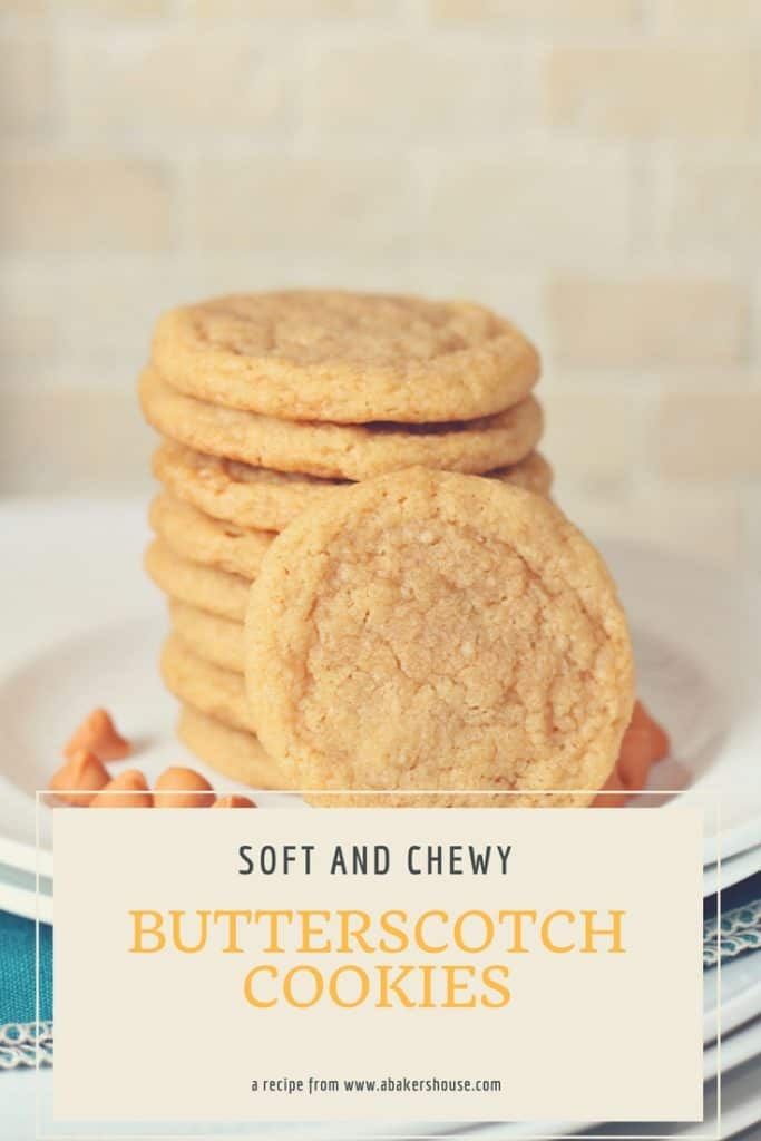 Classic butterscotch cookies recipe with soft and chewy butterscotch chips