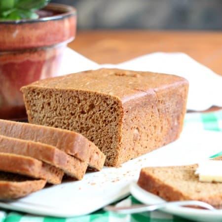 Easy No Knead Whole Wheat Bread #BreadBakers