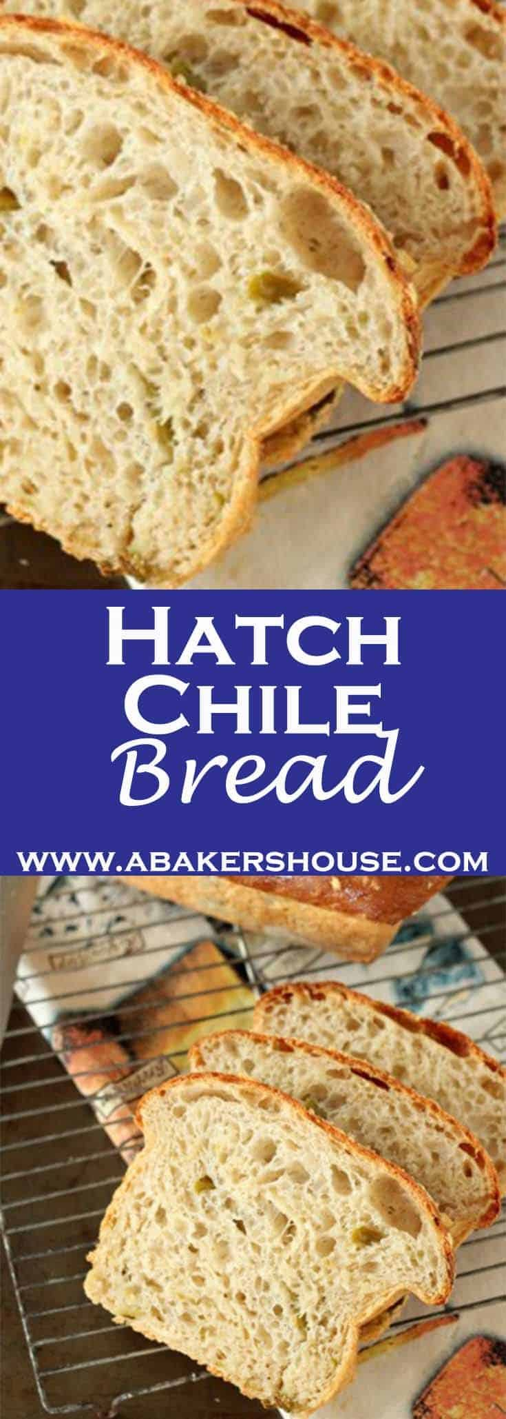 Hatch Chile Bread is a wonderful homemade bread recipe to use when baking with Hatch Chiles or any other chile for that matter. #homemadebread #hatchchiles #abakershouse #breadrecipe