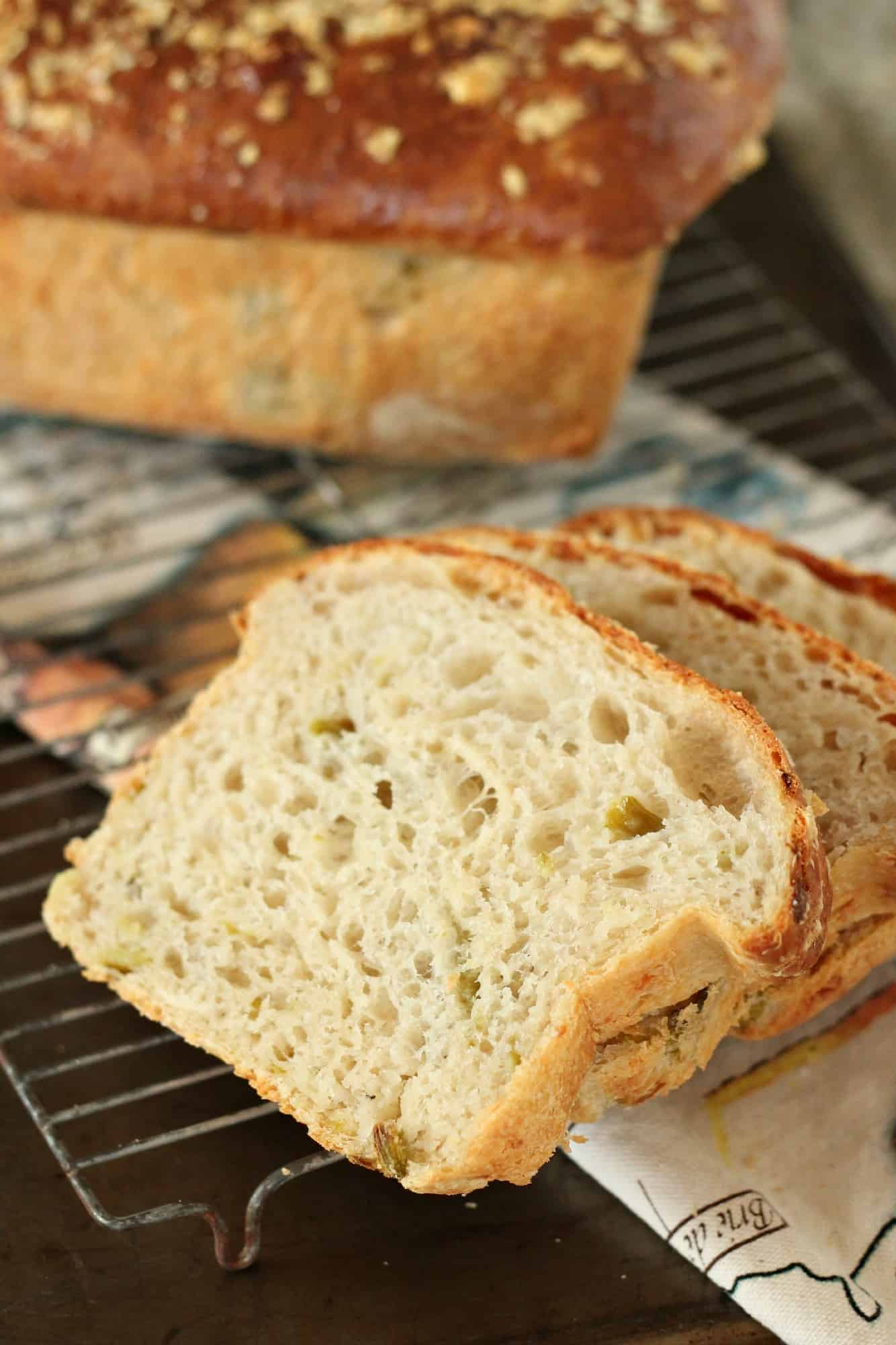 Hatch Chile Bread #BreadBakers