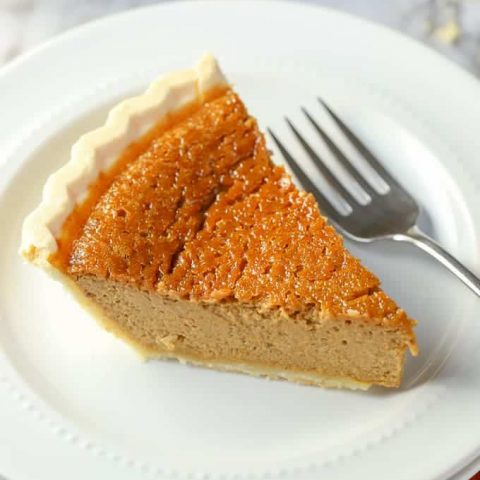 slice of gluten free pumpkin pie