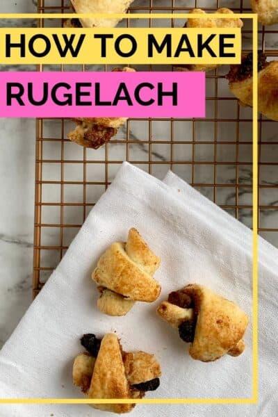 Pinterest photo of making rugelach