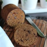 Boston brown bread baked in a can