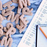 Alphabet Letter Cookies