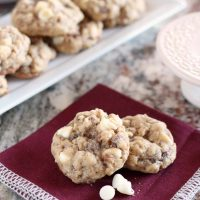 Oatmeal Cookies with White Chocolate Chips and Toffee Bits