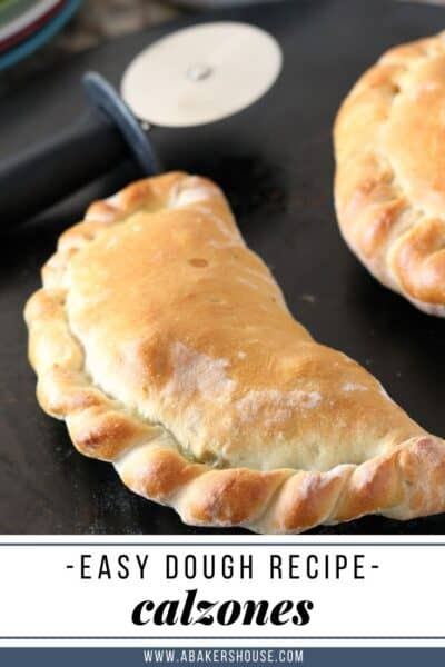 Pin for easy calzone dough recipe