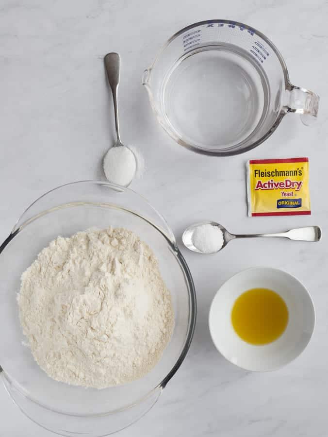 calzone ingredients flour yeast salt