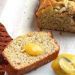 Lemon poppy seed slice of bread iwth lemon curd