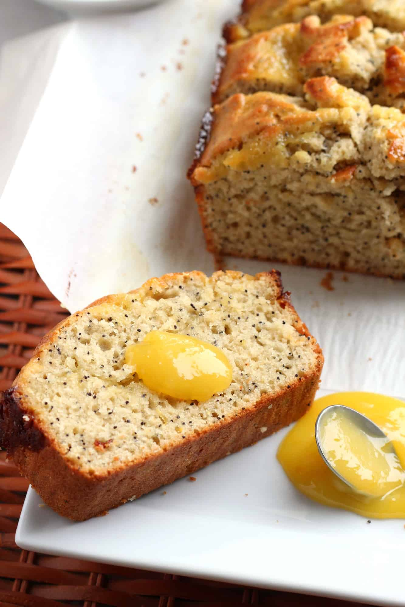 Lemon Curd Poppy Seed Bread #BreadBakers | A Baker's House