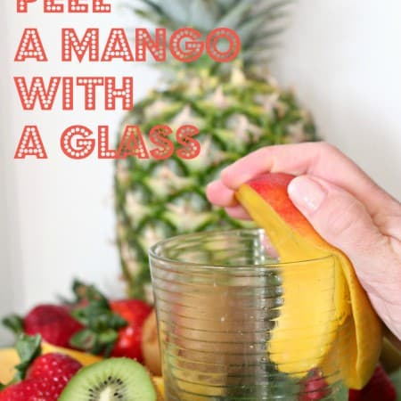 peel mango glass