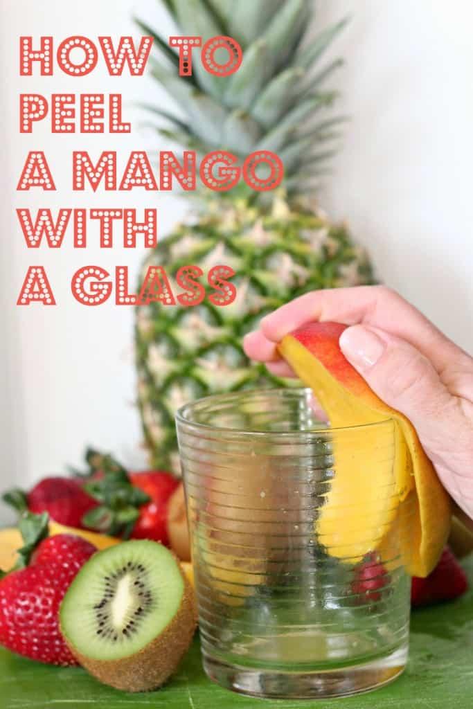 peel mango glass