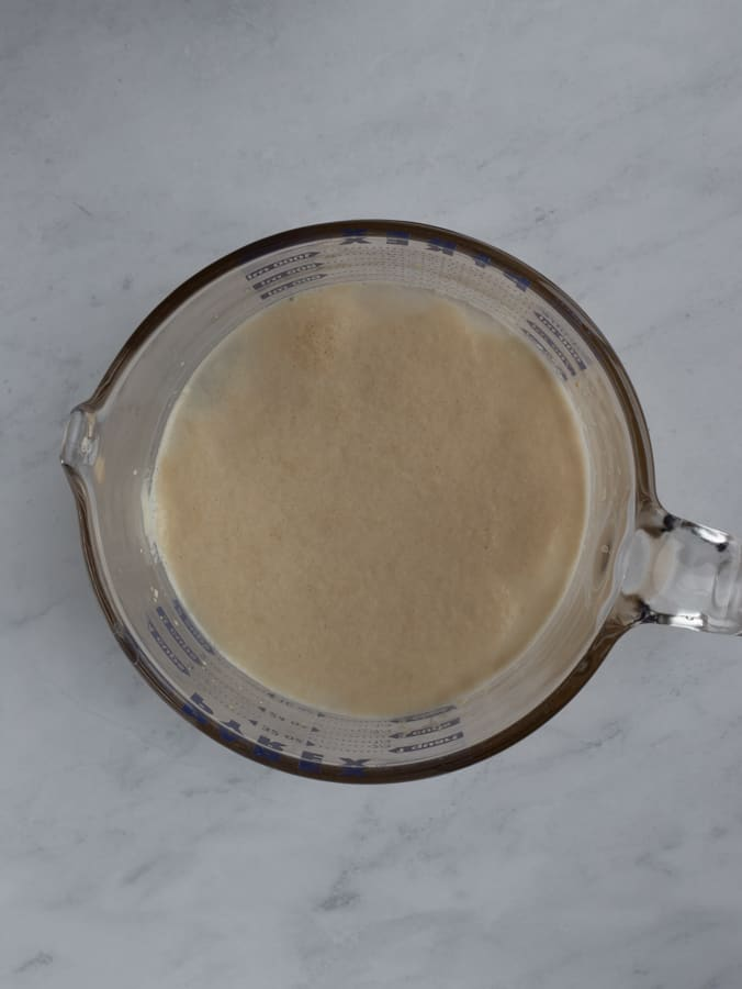 yeast and water mixture