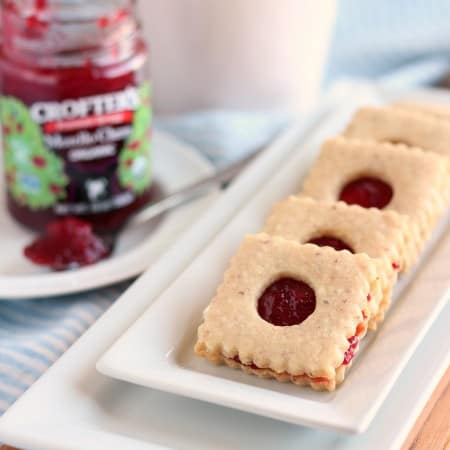 Linzer Cookies with #CreativeCookieExchange