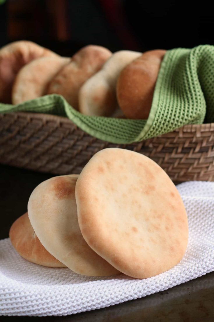 Simple pita bread is a treat to make at home. This reliable recipe from King Arthur Flour takes the mystery out of the process.#pita #pitabreadrecipe #homemadebread #abakershouse