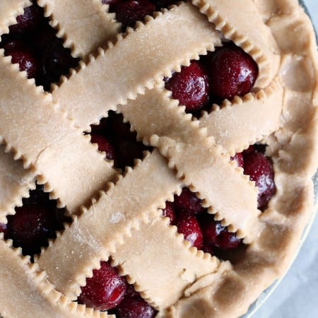 whole wheat pie pastry cherry