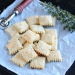 Parmensan cream crackers a homemade bread recipe