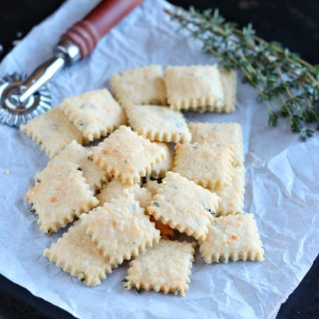 Parmesan-Thyme Cream Crackers with #TwelveLoaves
