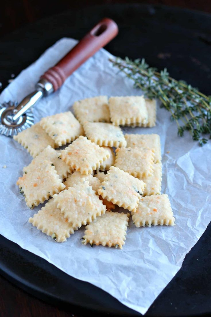 Homemade crackers are so easy to make from scratch; in fact, I wonder why I have not baked them before. Parmesan cream crackers are easy to eat on their own, would be ideal with a cheese plate, or can be served along side soup.#crackers #homemade #abakershouse