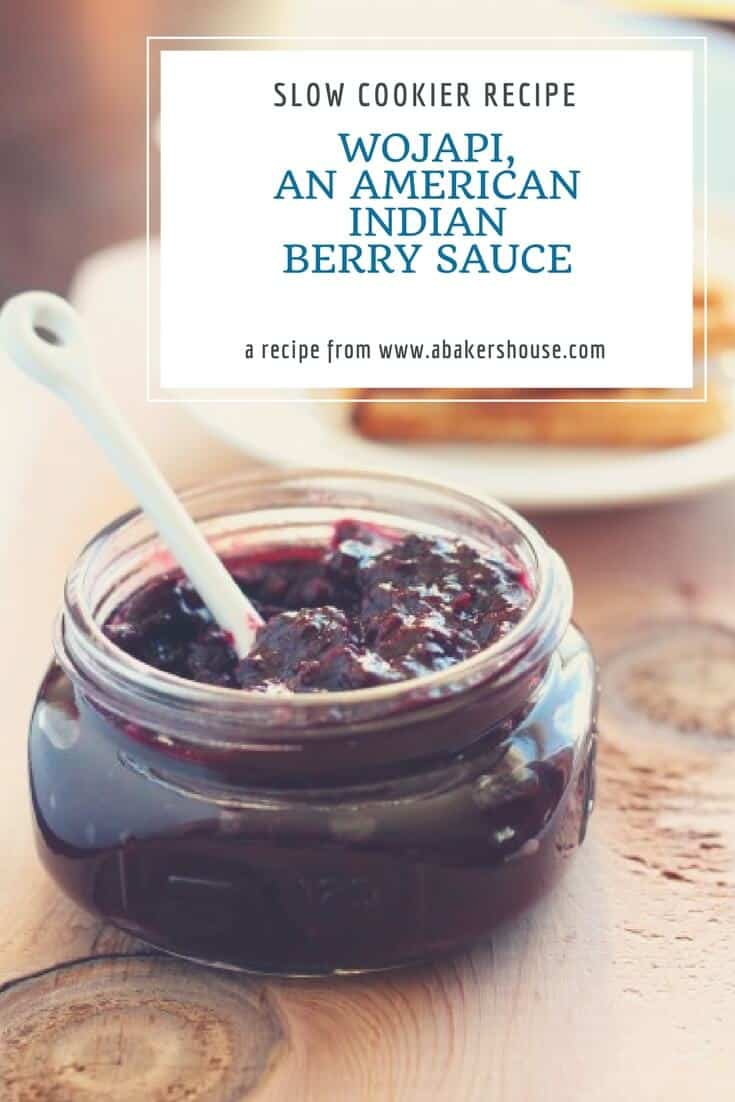 Wojapi, an American Indian berry sauce served at #Tocabe   A