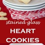 Pinterest photos for stained glass cookies in heart shapes