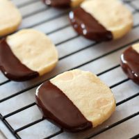 Chocolate Dipped Macadamia Nut Cookies