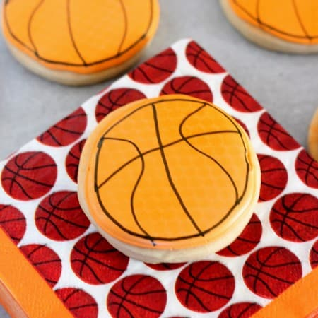 Basketball Cookies for #MarchMadness