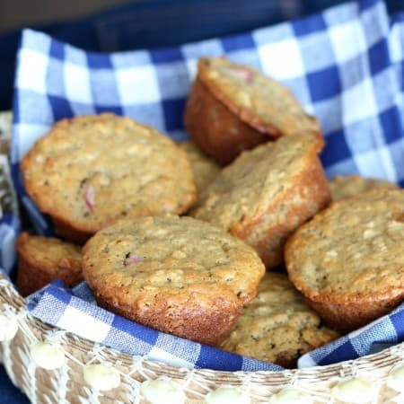 Rhubarb and Oat Muffins (gluten free) and a #WholeFoods #Giveaway