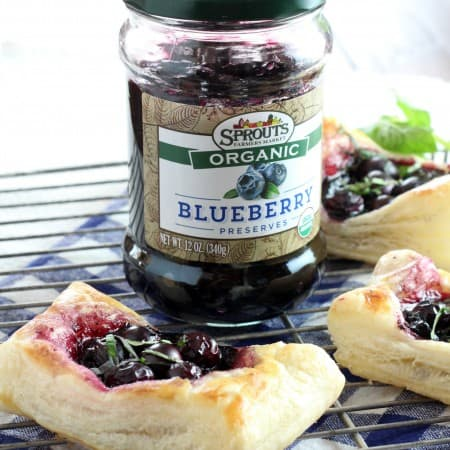 Puff Pastry Berry Tarts with #Sprouts