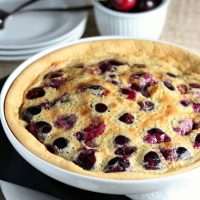 Cherry Clafouti with #WholeFoods