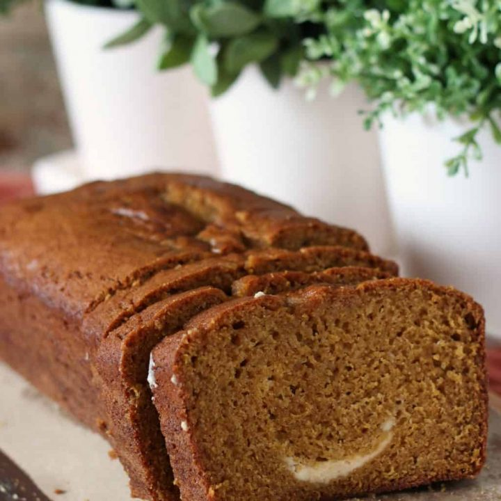 pumpkin bread cream cheese