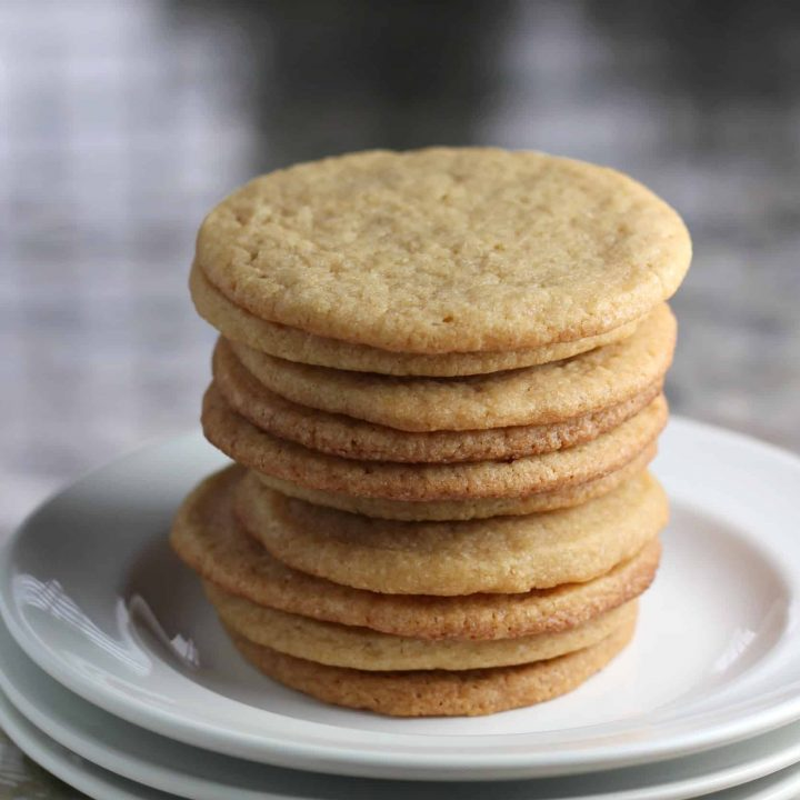 Stack of maple cookies