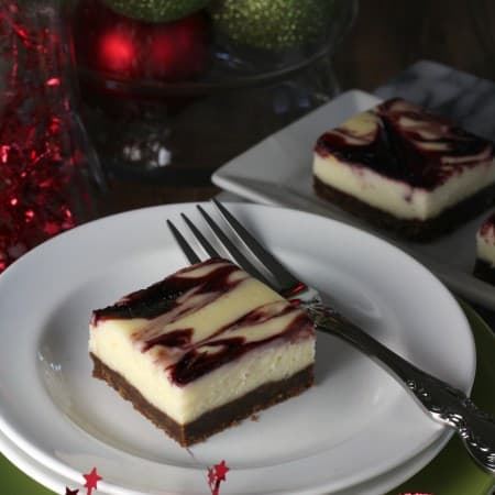 Ginger Cherry Cheesecake Squares