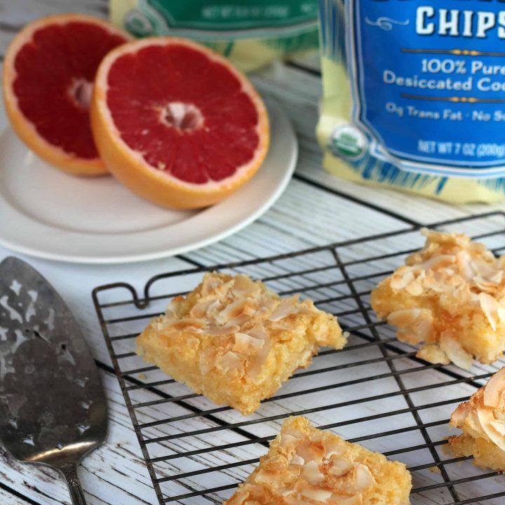 Coconut Grapefruit Squares
