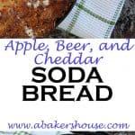 Apple, beer and cheddar soda bread