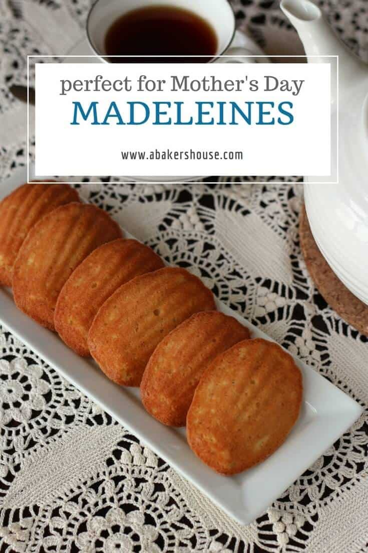 Have these Honey and Vanilla Madeleines with a cup of tea or coffee. Light and fluffy they are a mix between a cookie and a cake. #madeleines #Honey #vanilla #abakershouse #bbcgoodfoodrecipe #frenchrecipe #mothersday #babyshower #weddingshower #engagementparty