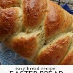 Braided Easter bread Pinterest image with text