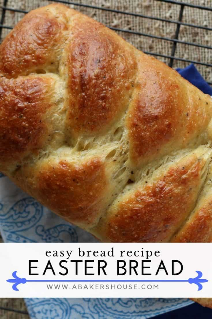 Italian Easter Cheese Bread deserves to be made more often then once a year. Make it the centerpiece of your Easter table. Made by Holly Baker at www.abakershouse.com #Easter #Easterbread #homemadebread #Italiancheesebread #italianeasterbread #abakershouse